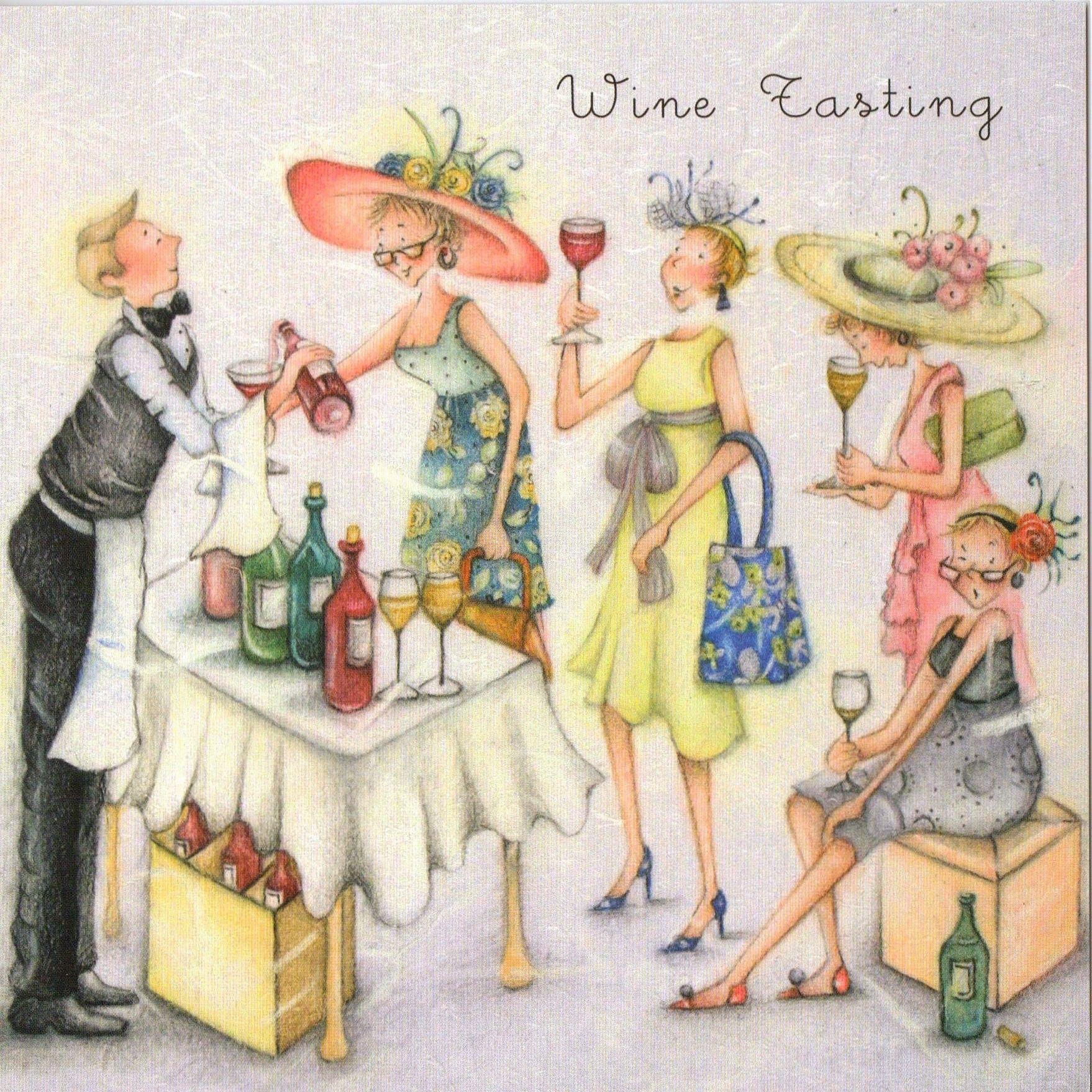 wine tasting , Ladies Who Love Life ... Berni Parker funny cute