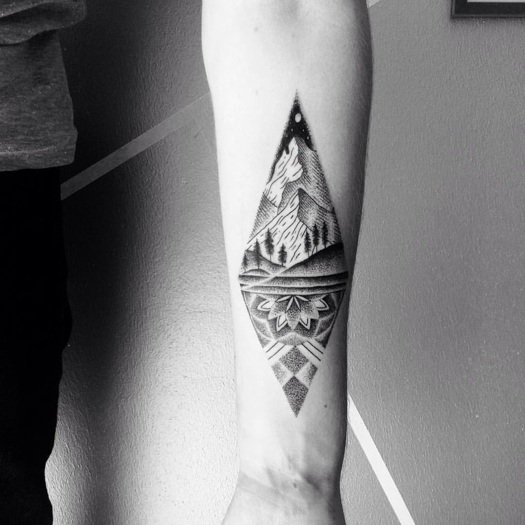 70 breathtaking mountain tattoos design | mountain tattoo, tattoo