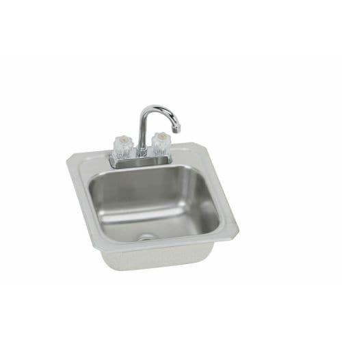 Elkay BCRA150C Gourmet Celebrity Stainless Steel (Silver) 15 Single Basin Top  Mount Bar Sink