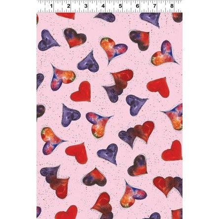 Heartfelt - Collections Pink Heart Fabric