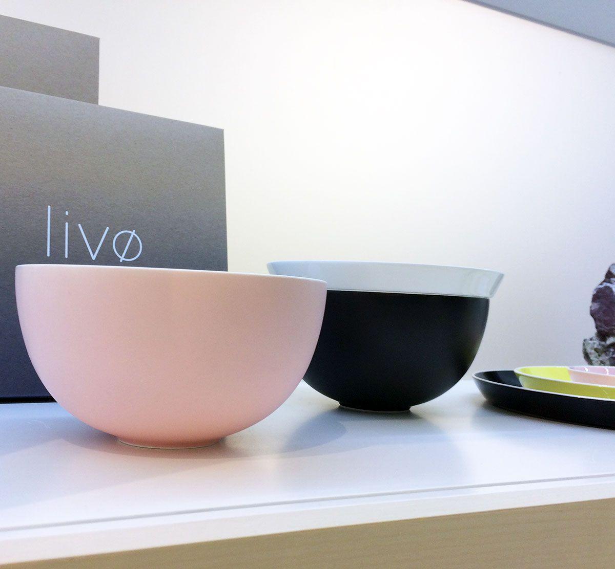 schalen aus der serie liv von ritzenhoff in den trendfarben rosa und schwarz trends 2017. Black Bedroom Furniture Sets. Home Design Ideas
