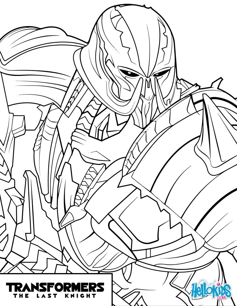 Transformers Megatron Coloring Page From The New Transformers