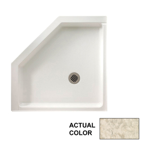 Swanstone Mountain Haze Solid Surface Shower Base Common 36 In