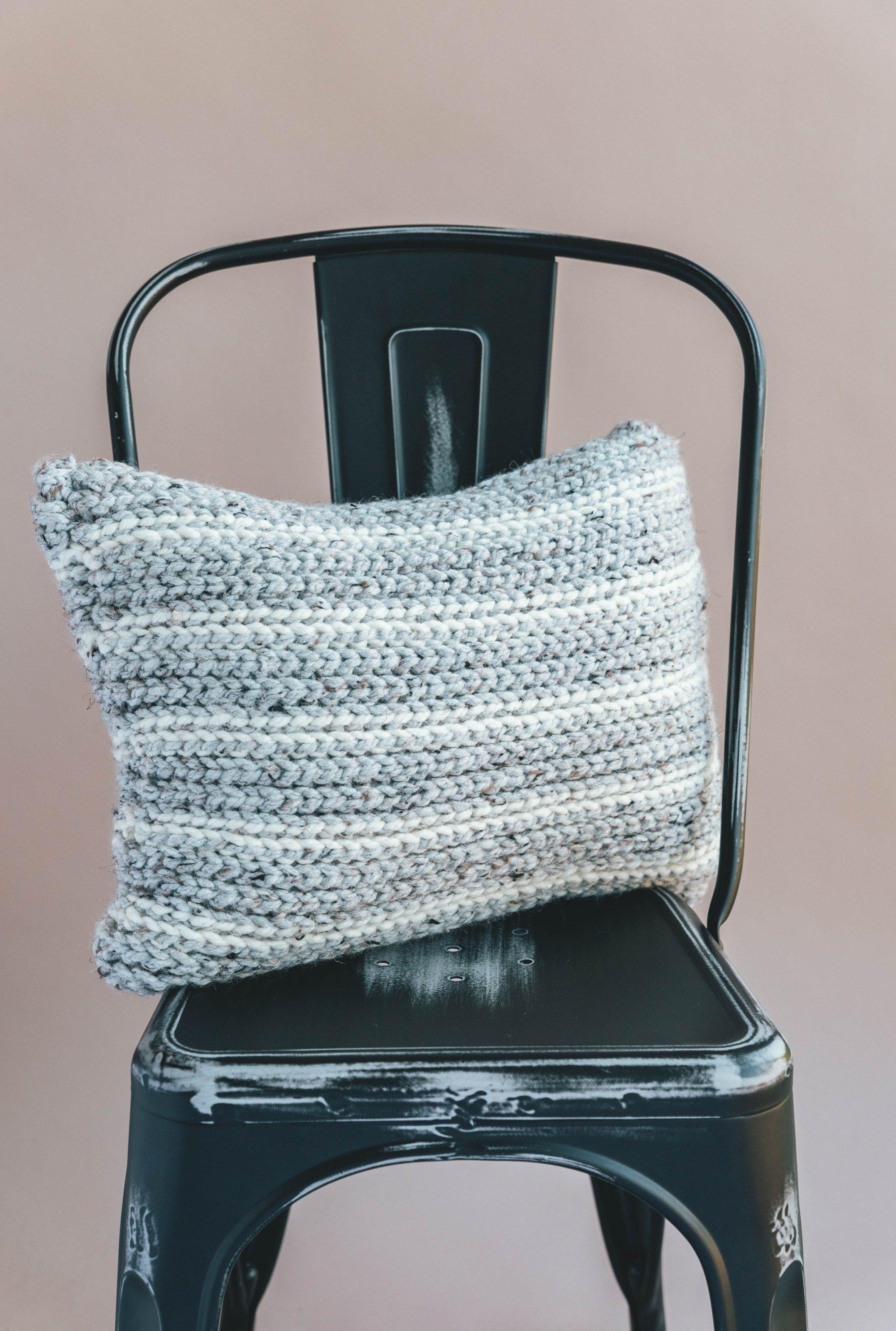 Crochet Knit Look Pillow (with Sierra | Crochet | Pinterest