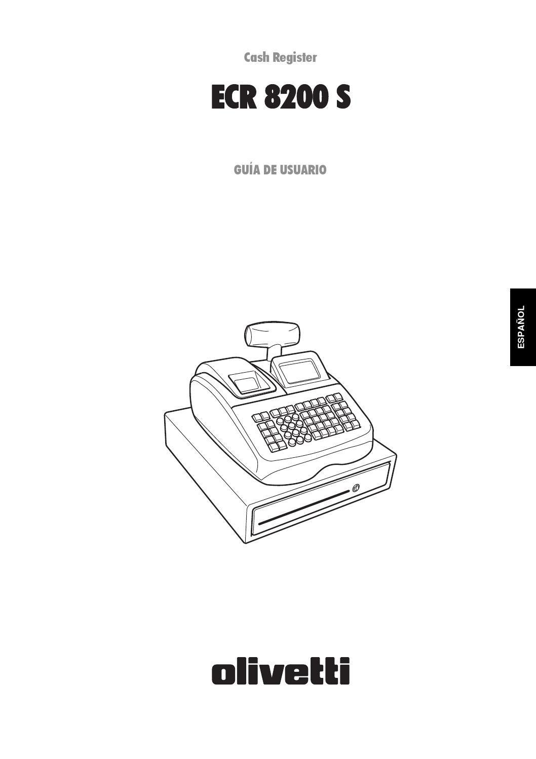 Caja Registradora Olivetti ECR 6920F Teclado Plano