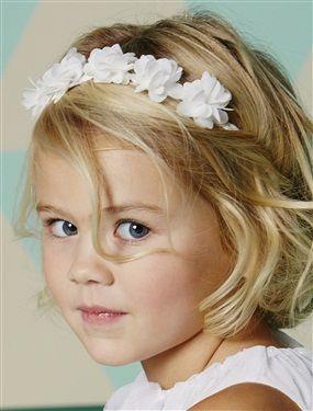 Headband tressé avec fleurs en tulle blanc irise