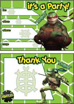 ninja turtle invitations ninja turtles