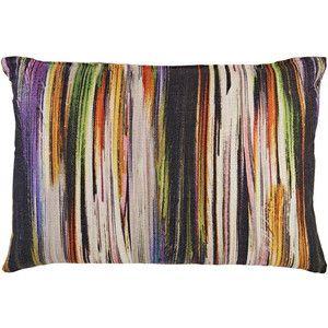 Lori Shinal Striped-Front Pillow