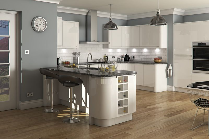 Welford bright white luca gloss white kitchens buy for White high gloss kitchen wall units