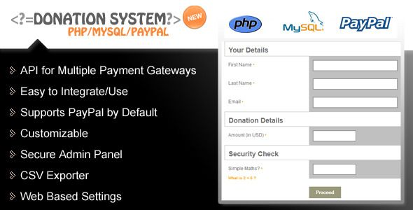 Codecanyon Donation Form u2013 PHP   PayPal   Advanced Reporting - donation sheet template