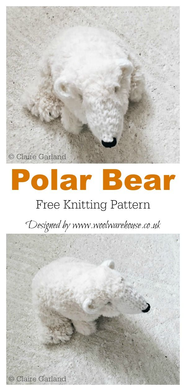 Amigurumi Polar Bear Toy Free Knitting Patterns #beartoy