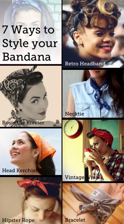 how to put bandana on head
