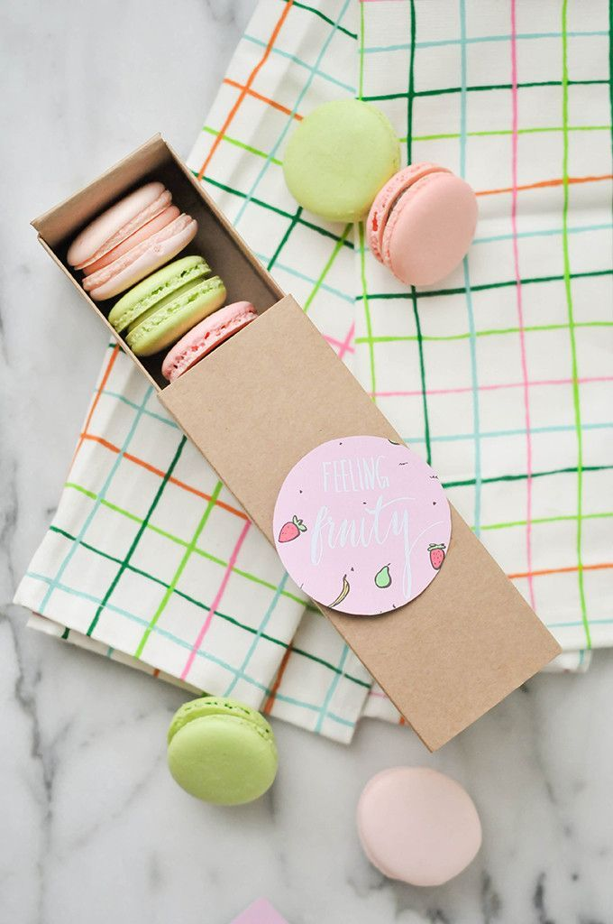 Printable Treat Boxes And Labels From The Proper Blog Macaron