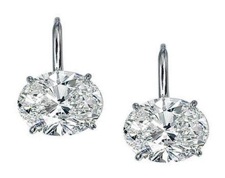 Diamond Earrings One Of A Kind Oval Stud