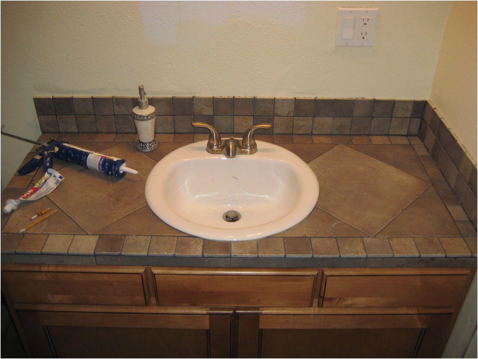 New Tile Bathroom Countertop Ideas