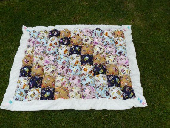 Bubble Blanket  Biscuit Quilt  Size  34'x42'   Ready by SvetasShop, £110.00
