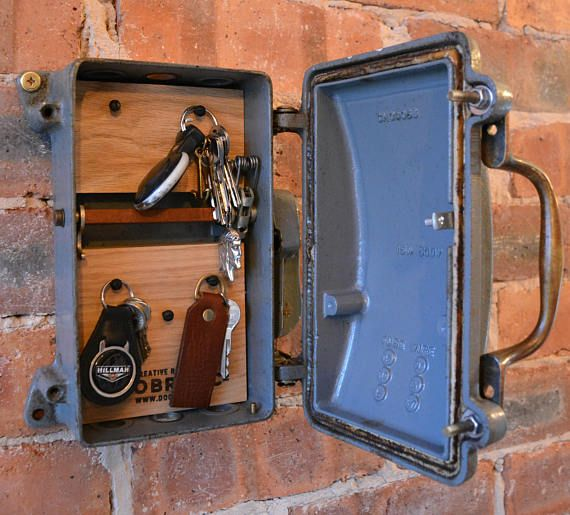 cast iron key safe storage rack converted from an antique 1940 s this is stunning rare and original cast iron large antique 1940s simplex fuse box converted into an industrial looking functional key store safe