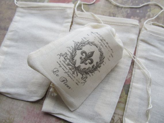 5 Linen Bags for Stamping and IronOn by CaityAshBadashery on Etsy, $4.25