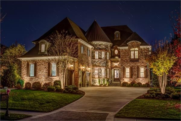 Stunning old world stone and brick home luxury homes for Luxury stone home designs