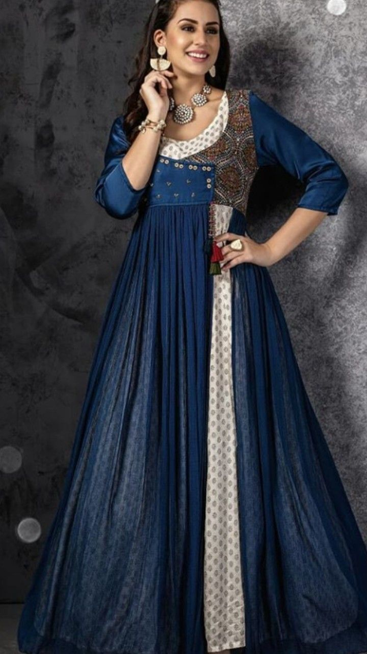 Beautiful long kurti with superb embellishments and modern