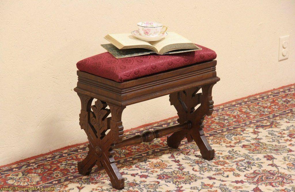 Fabulous Eastlake 1880 Antique Carved Walnut Slipper Bench Evergreenethics Interior Chair Design Evergreenethicsorg