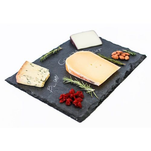 This is an attractive looking cheese platter. Love the look of slate.