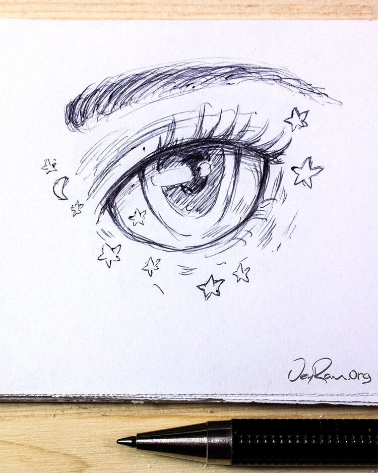 Female Anime Eye Drawing & Design (Printable PDF) — JeyRam ...