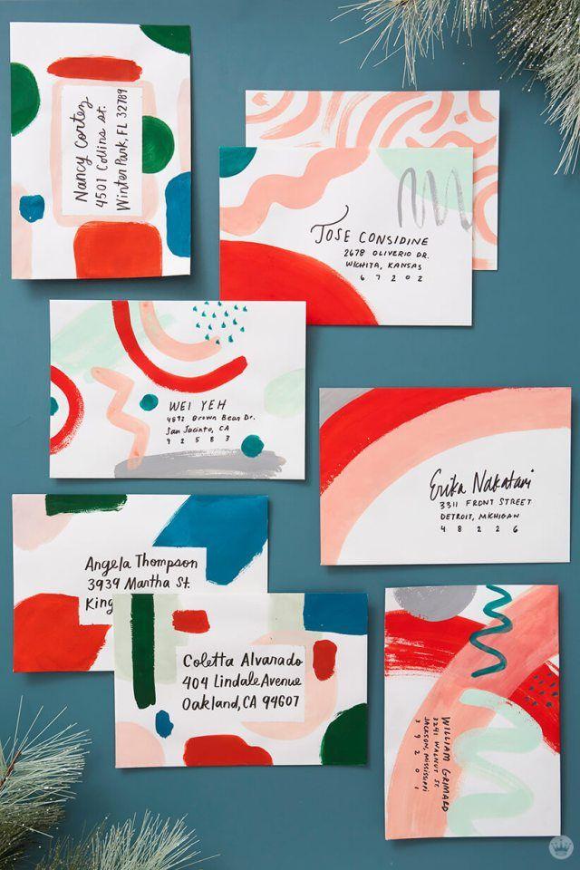Christmas mail art: 4 ways to decorate a big, beau