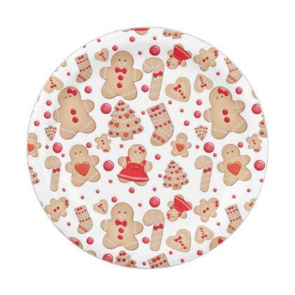 sc 1 st  Pinterest & Gingerbread Man Baked Cookies Rustic Whimsical Paper Plate