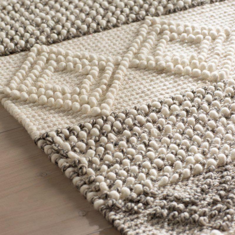Billie striped handmade flatweave grayivory area rug