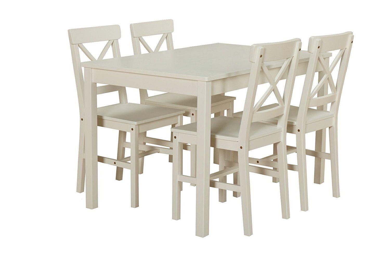 Dynamic24 Kiefer Landhaus Essgruppe Tisch 4 Stuhle Stuhl