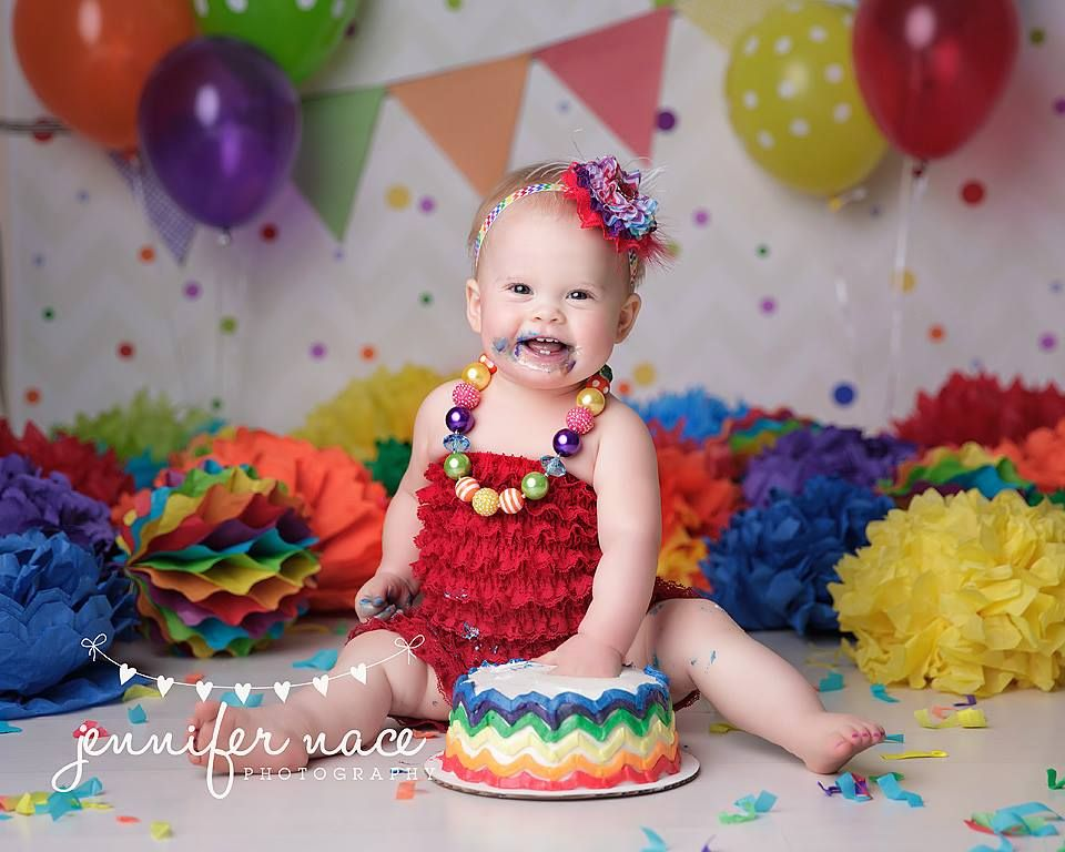 Rainbow Themed First Birthday Party Planning Ideas Styling Decor Rainbow Birthday Cake Rainbow First Birthday Rainbow Themed Birthday Party