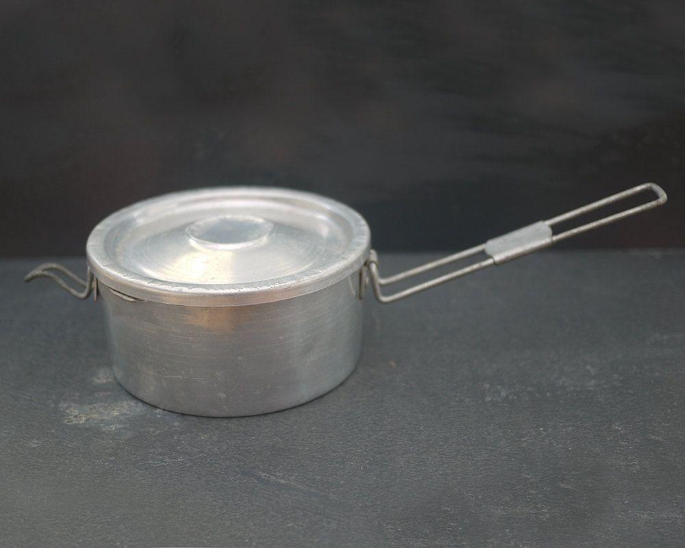Ancien Kit De Cuisine Militaire Cantine En Aluminium French  # Cuisine Vintage Bois Metal