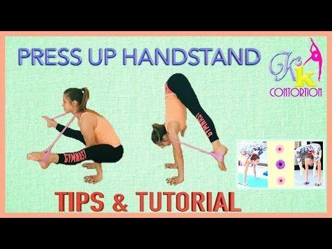 How To Do A Press Handstand Gymnastics Training Yoga Handstand Gymnastics Workout
