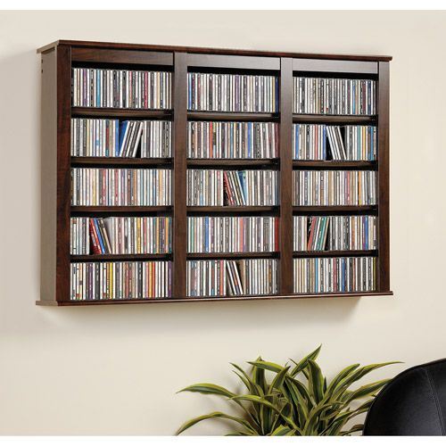 Attrayant Wall Mounted Storage Shelf For 523 CDs/213 DVDs/408 Blu Rays