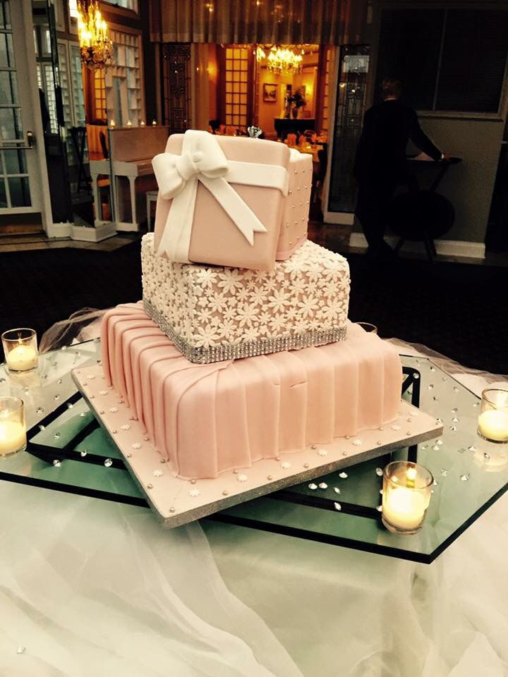 Pink and champagne cake