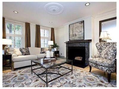 Black White Taupe Living Room Boston