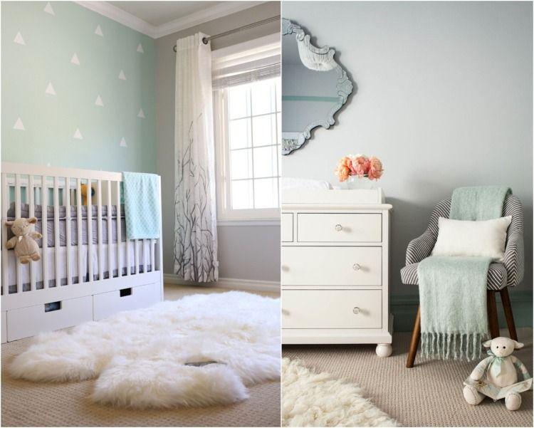 Décoration chambre bébé en 30 idées créatives pour les murs | Bleu ...