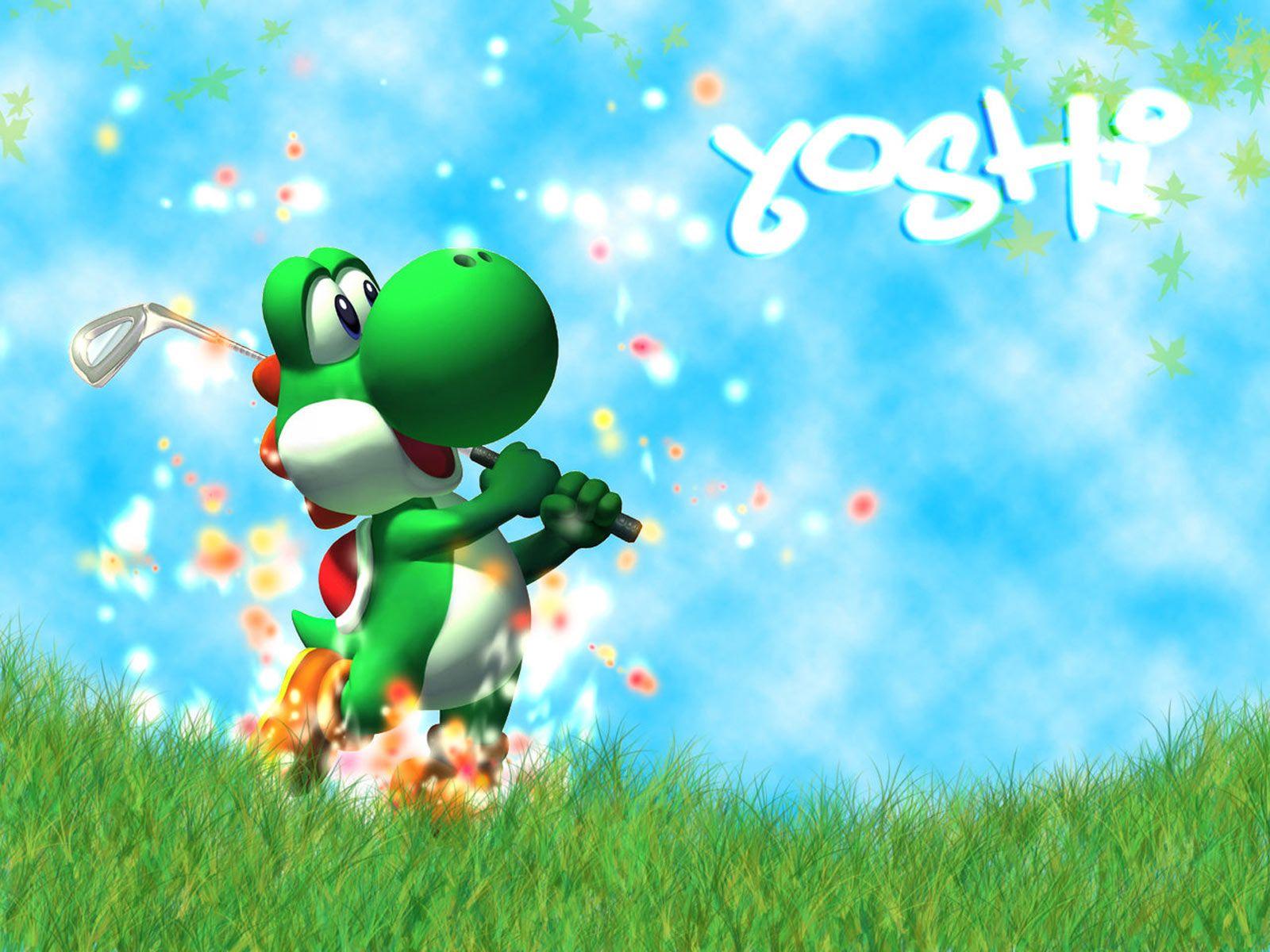 Yoshi Playing Golf, golf, nintendo video games, sports