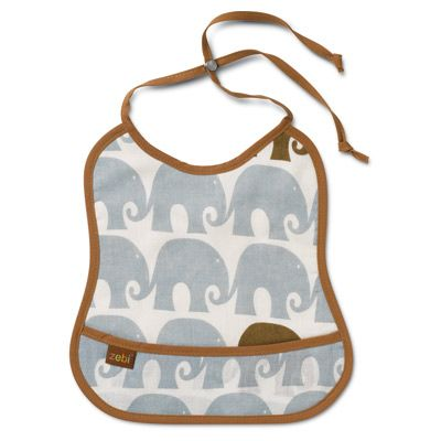 Blue Elephant Bib from Layla Grace