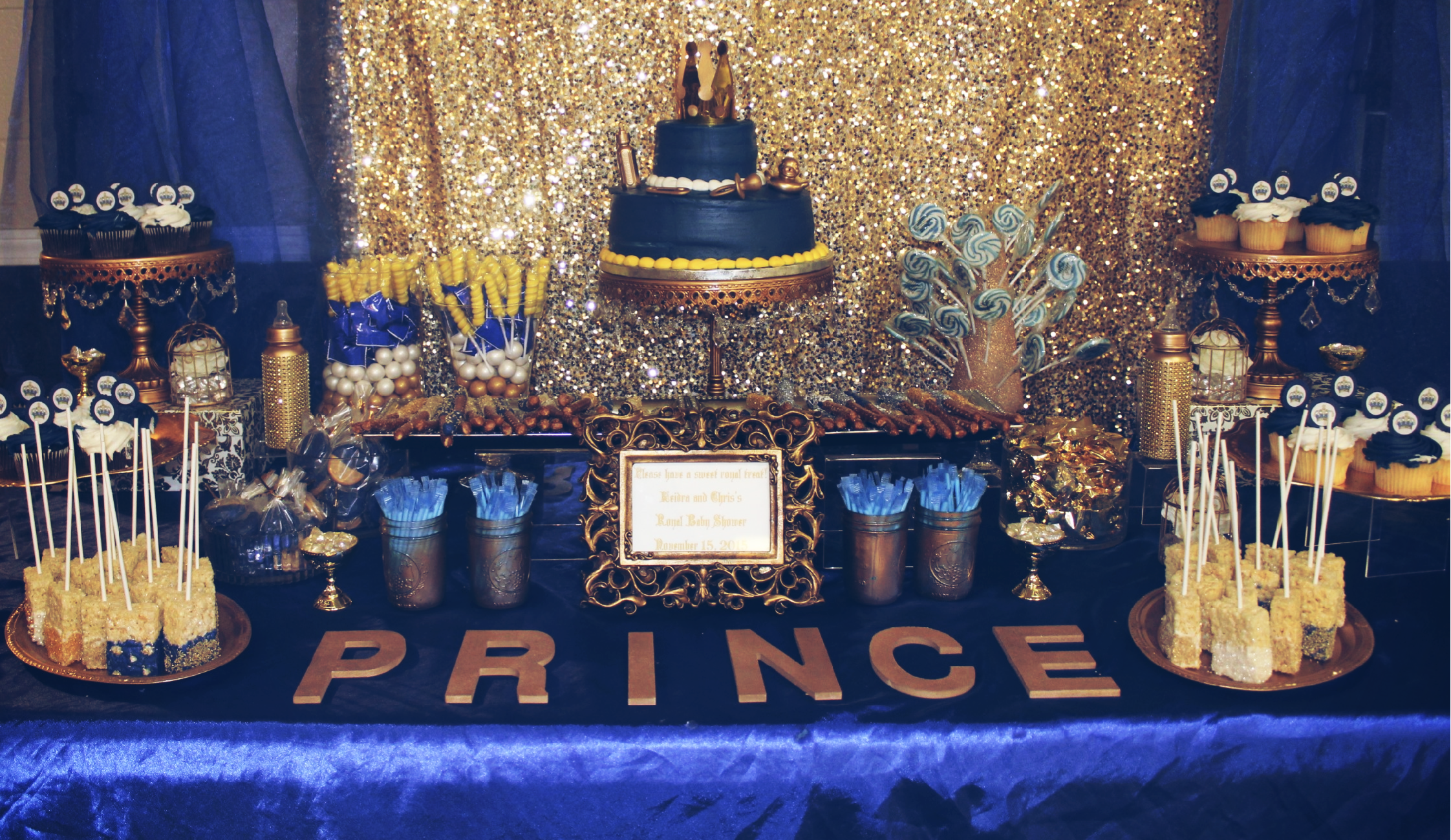 Blue & Gold Baby Shower Candy Bar #Eeofhouston