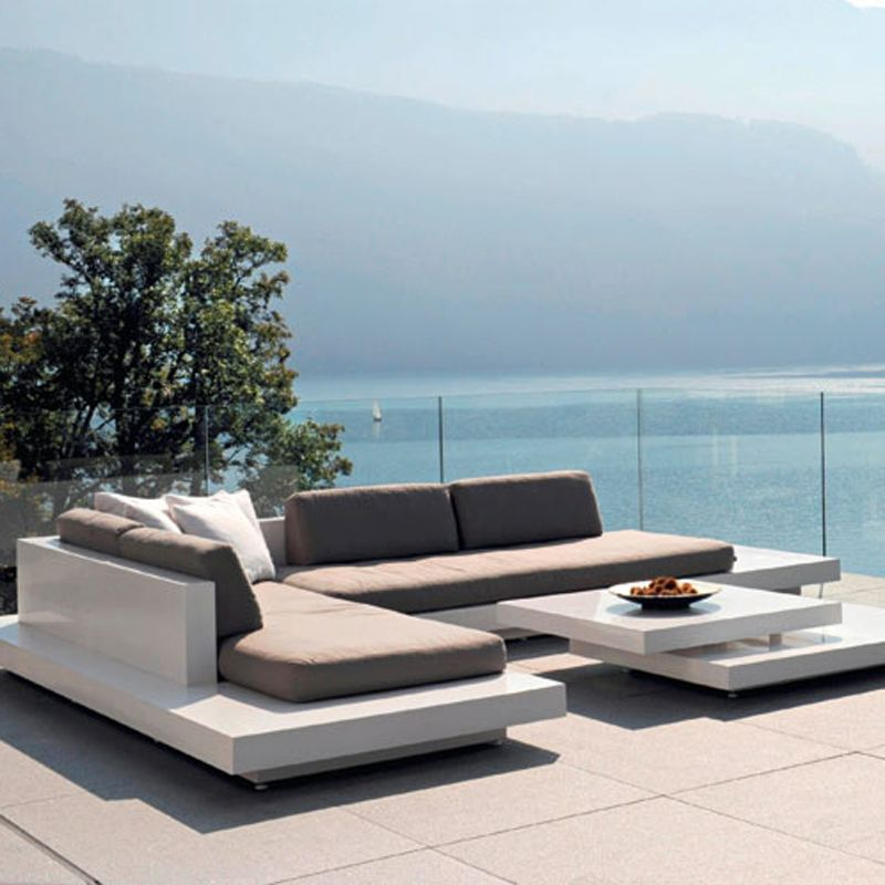 Maldives Customizable Outdoor Sectional - Weathered Grey Teak ...