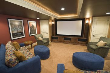 Tray Ceiling Design Pictures Remodel Decor And Ideas Home Theater Rooms Home Media Room