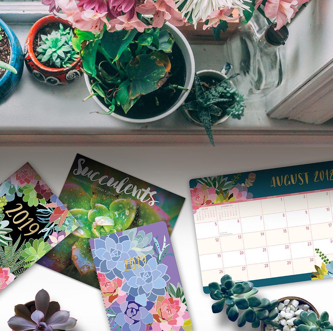 2019 succulent calendars 2019 calendar tablet