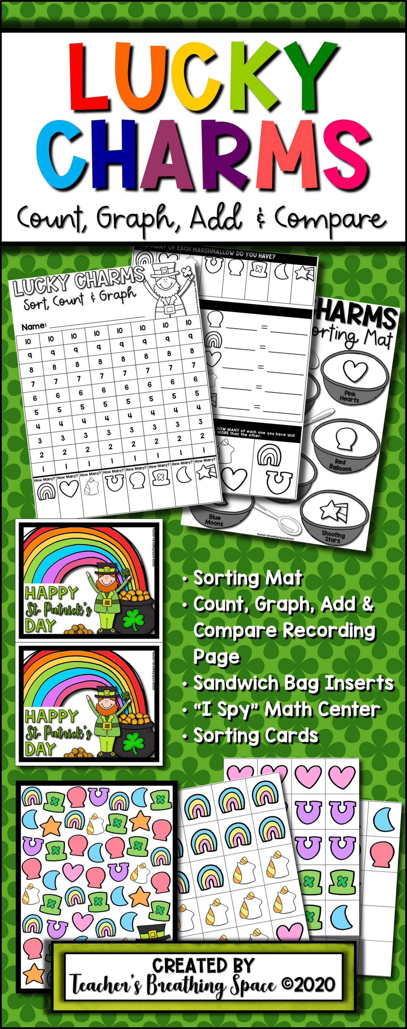 Lucky Charms Sorting Count Graph Add Amp Compare Plus