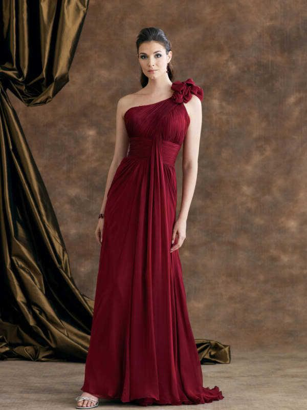 crimson bridesmaid dress - Google Search | When it feels this right ...