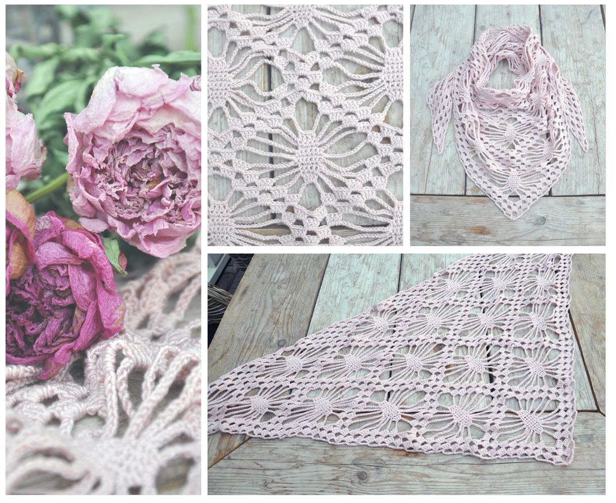 spidershawl with dutch pattern and link to original pattern ...