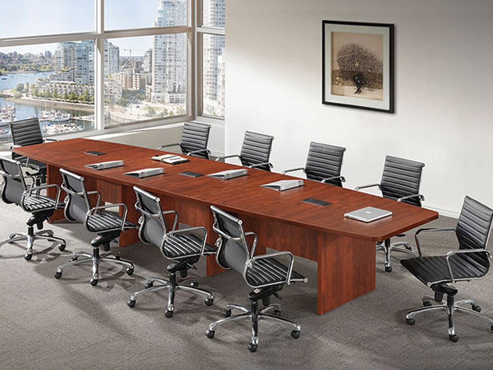 Modern Boat Shaped 12 Feet Veneer Office Conference Table Ro Cor C10 Conference Table Office Table Design Office Furniture Design