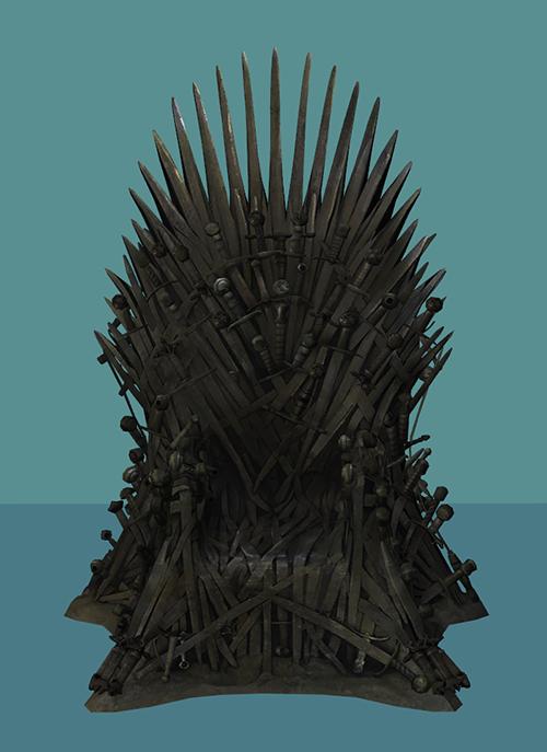 Crisps Kerosene Sims Sims Iron Throne Lion Sculpture