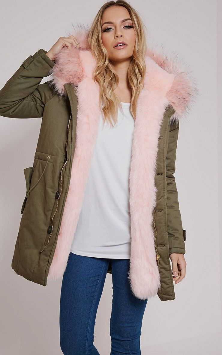 Pink Fur Lined Premium Parka Coat Looking to stay warm and super ...